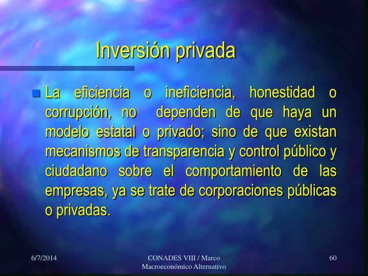 Inversión privada