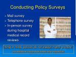 conducting policy surveys