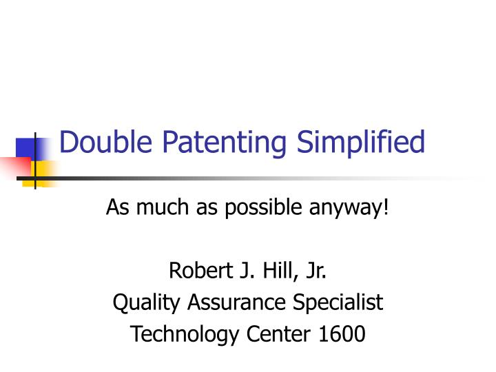 double patenting simplified n.