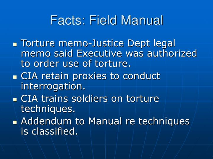 Facts: Field Manual