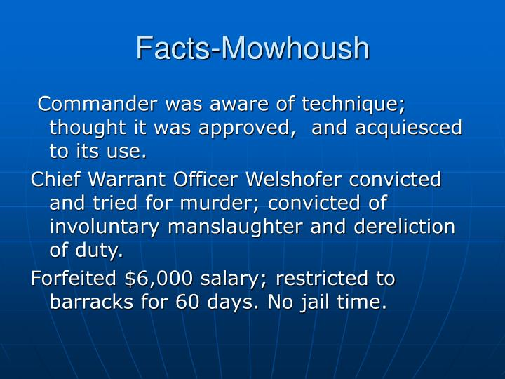 Facts-Mowhoush