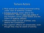 torture actors