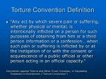 torture convention definition