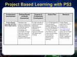 project based learning with ps3