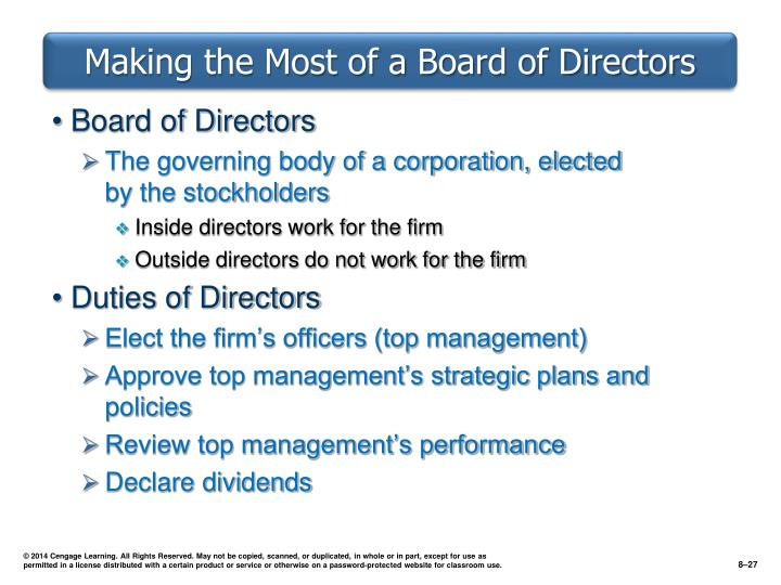 Making the Most of a Board of Directors