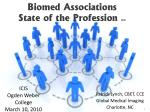 biomed associations state of the profession icis