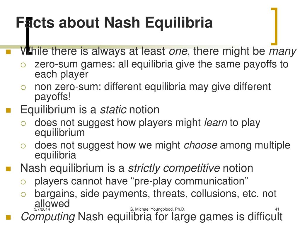 Facts about Nash Equilibria