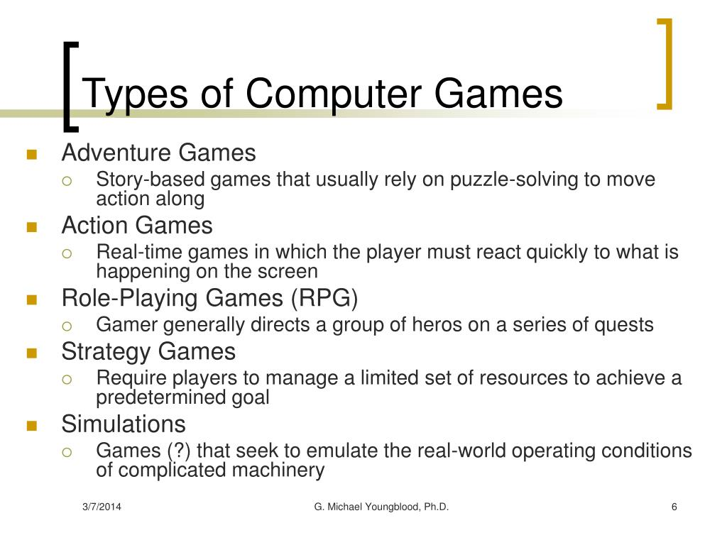 Types of Computer Games