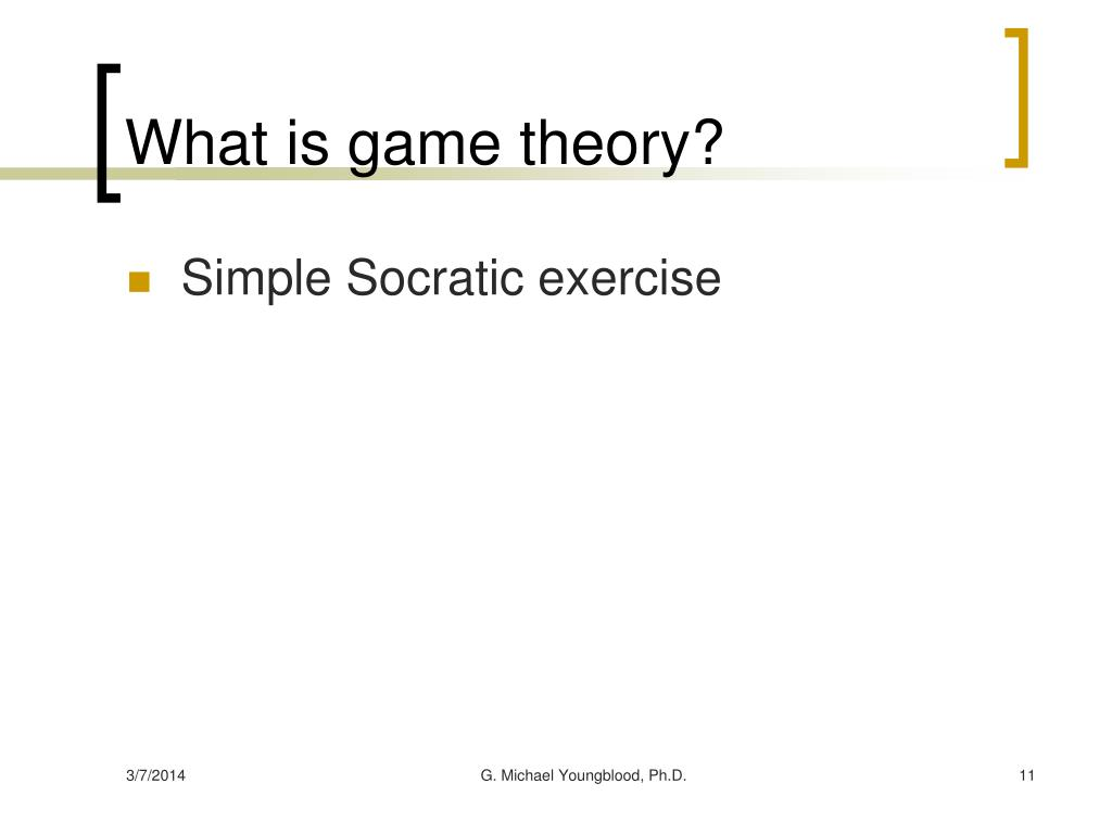 What is game theory?