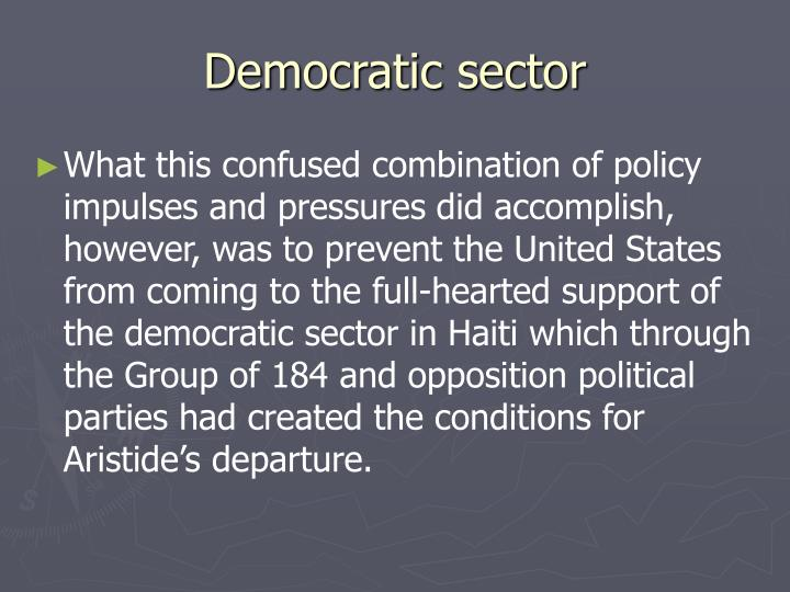 Democratic sector