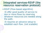 integrated services rsvp the resource reservation protocol