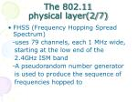 the 802 11 physical layer 2 7