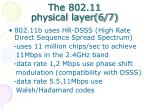 the 802 11 physical layer 6 7