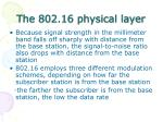 the 802 16 physical layer