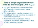 why a single organization may end up with multiple lans 1 2