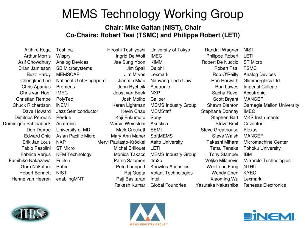 PPT - MEMS PowerPoint Presentation - ID:1415636