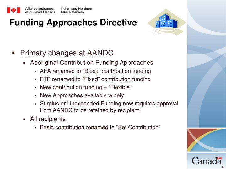 Primary changes at AANDC