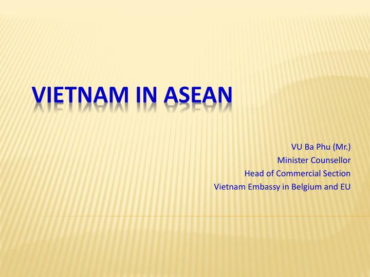 vu ba phu mr minister counsellor head of commercial section vietnam embassy in belgium and eu n.