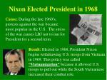 nixon elected president in 1968