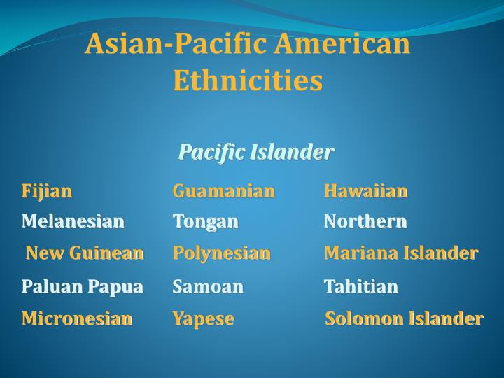 Asian-Pacific American Ethnicities