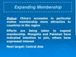 expanding membership