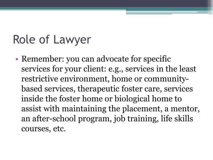 Role of Lawyer
