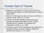 human cost of trauma