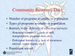 community resource data