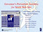 governor s prevention initiative for youth web site