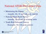 national atod prevalence data