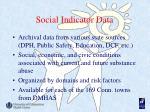 social indicator data