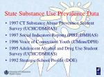 state substance use prevalence data