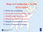 steps in conducting a needs assessment