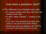 how does a pandemic start