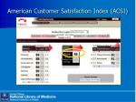 american customer satisfaction index acsi