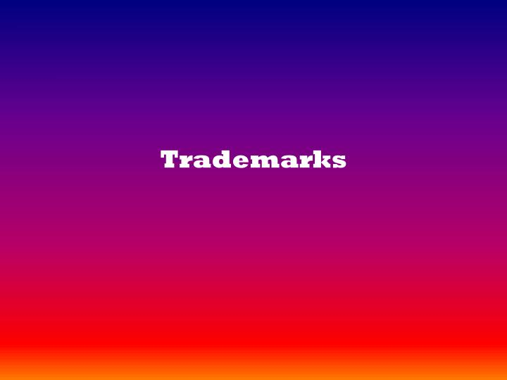 trademarks n.