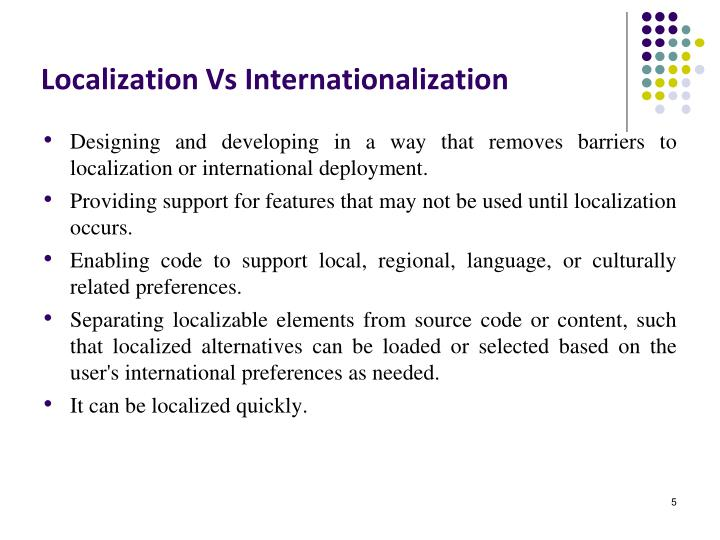 Localization Vs Internationalization