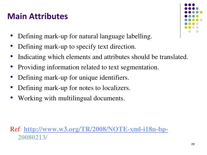 Main Attributes