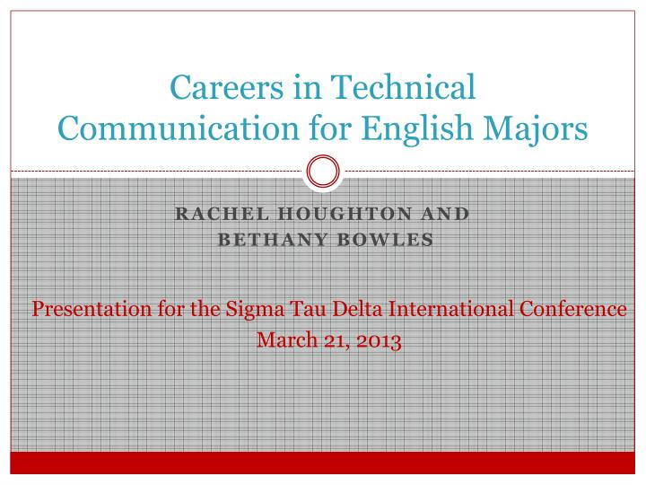 careers in technical communication for english majors n.