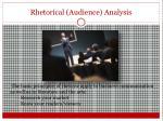 rhetorical audience analysis