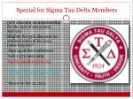 special for sigma tau delta members