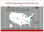tech writing salaries around the u s
