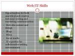 web it skills
