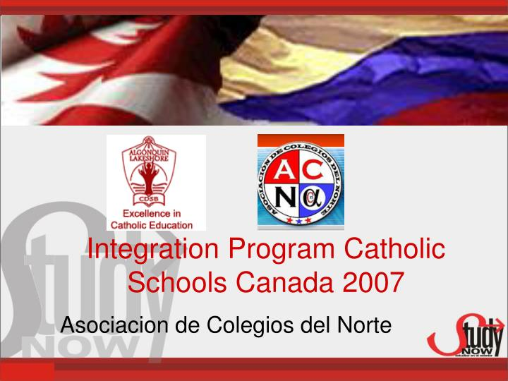integration program catholic schools canada 2007 n.