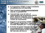 come si segue il programma ccna