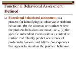 functional behavioral assessment defined