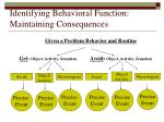identifying behavioral function maintaining consequences