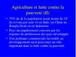 agriculture et lutte contre la pauvret ii