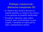 politique commerciale dimension europ enne ii