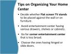 tips on organizing your home center2